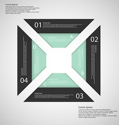 Square from four separate parts vector