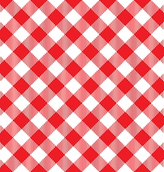 Red tablecloth diagonal seamless pattern vector