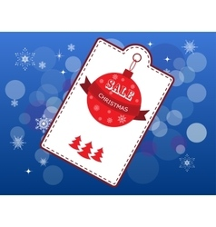 Christmas cover with white emblem and price vector image