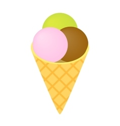 Ice cream isometric 3d icon vector