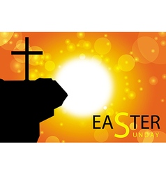 Easter sunday card with cross symbol 3 vector