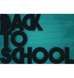 Time to school Retro poster Black retro phrase vector image