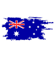 australian flag painted by brush hand paints art vector image vector image