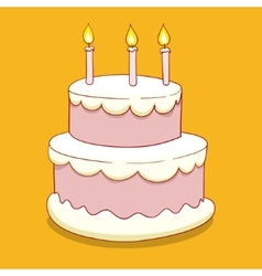 Cake with candles vector image vector image