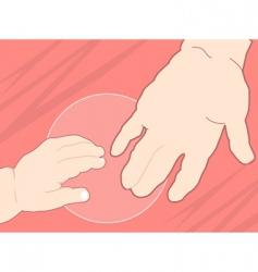 cartoon hands vector image