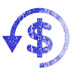 Chargeback grunge textured icon vector