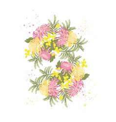 chrysanthemum flower background vector image