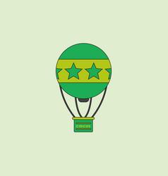 Circus watercolor hot air balloon vector
