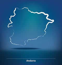 Doodle Map of Andorra vector image