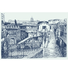 Drawing of Italy cityscape - Rome vector image
