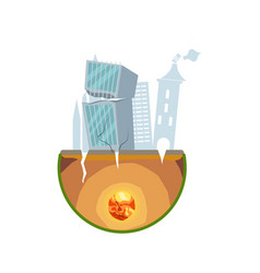 Earthquake damage isolated icon vector