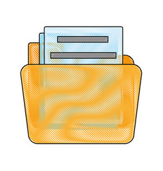 folder icon image vector image vector image