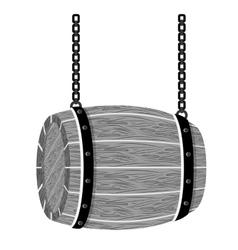 grayscale wooden barrel icon image design vector image