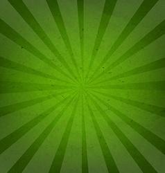 Green grunge background texture with sunburst vector