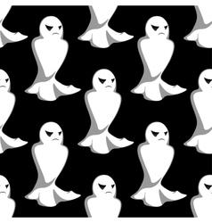 Halloween night ghosts seamless pattern vector