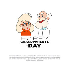 happy grandparents day greeting card banner with vector image