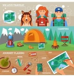 Hiking Horizontal Banners vector image vector image
