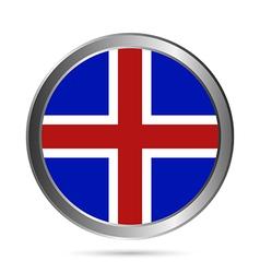 Iceland flag button vector