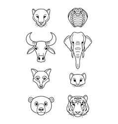 Indian flat animals vector