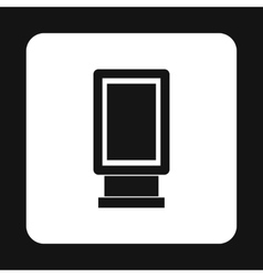 Lightbox icon in simple style vector