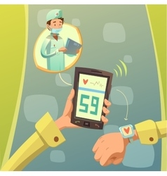 Mobile doctor consultation vector