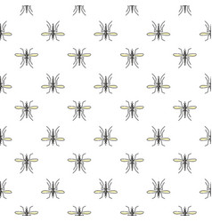 mosquito seamless pattern for textile design vector image vector image