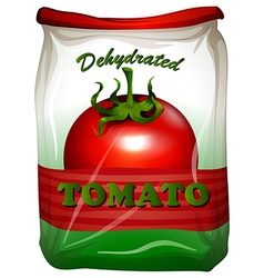 Packaging design with tomato label vector