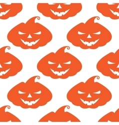 pattern with orange pumpkins scary face on vector image vector image