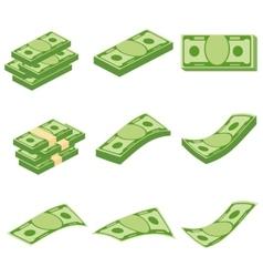 set of money vector image vector image