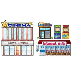 Set of shops vector image vector image