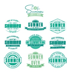 Set of summer sales related vintage labels vector