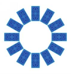 Tarot cards Back side Zodiac circle sread vector image