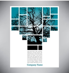 Unique tree page layout vector