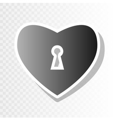 heart woth lock sign  new year blackish vector image