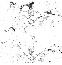 Distressed overlay texture of cracked concrete vector