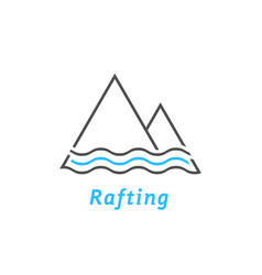 Black and blue rafting logo vector