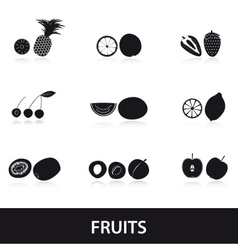 Fruits and half fruits eps10 vector