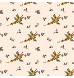 seampless pattern yellow flower floral vector image