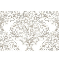 Vintage seamless hand drawn pattern vector