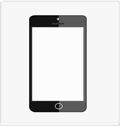 Black smart mobile phone vector