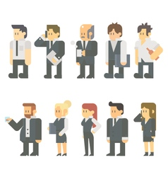 Flat design of business people set vector