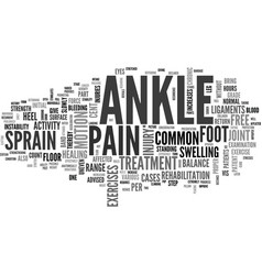 Ankle physical therapy text word cloud concept vector