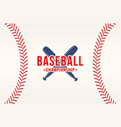 baseball background baseball ball laces stitches vector image