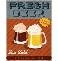Beer retro poster vector