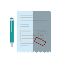 bill document icon vector image