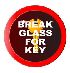 break glass for key vector image
