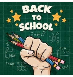 Children back to school poster vector image vector image
