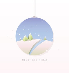 Christmas polygonal design in bauble vector image vector image