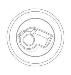 circular contour of silhouette closeup whistle vector image