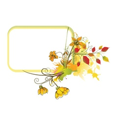 colorful floral frame vector image vector image
